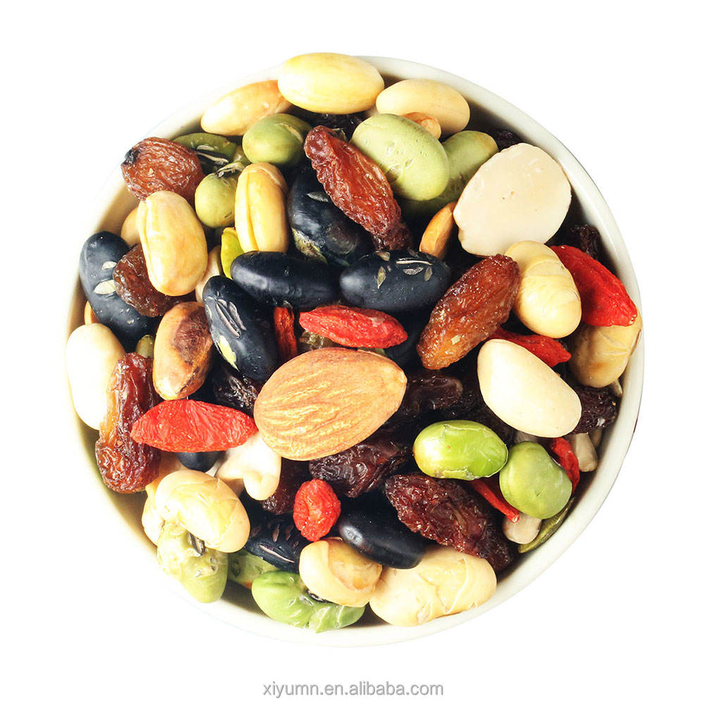 dried fruits with crispy nuts mixed snacks delicious food convenient for customer in supermarket