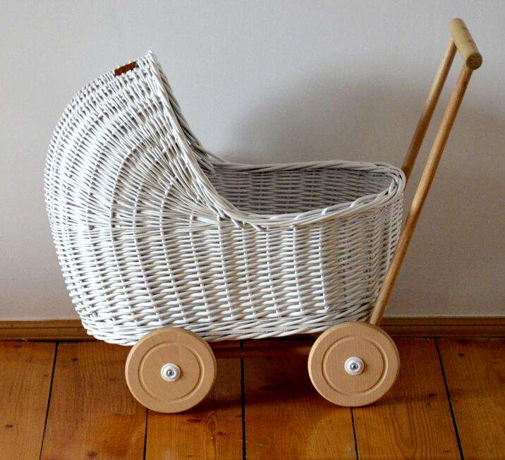 Large Pram Hamper Basket - White