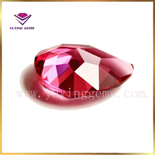 ruby loose cz gems cubic zirconia pear shape
