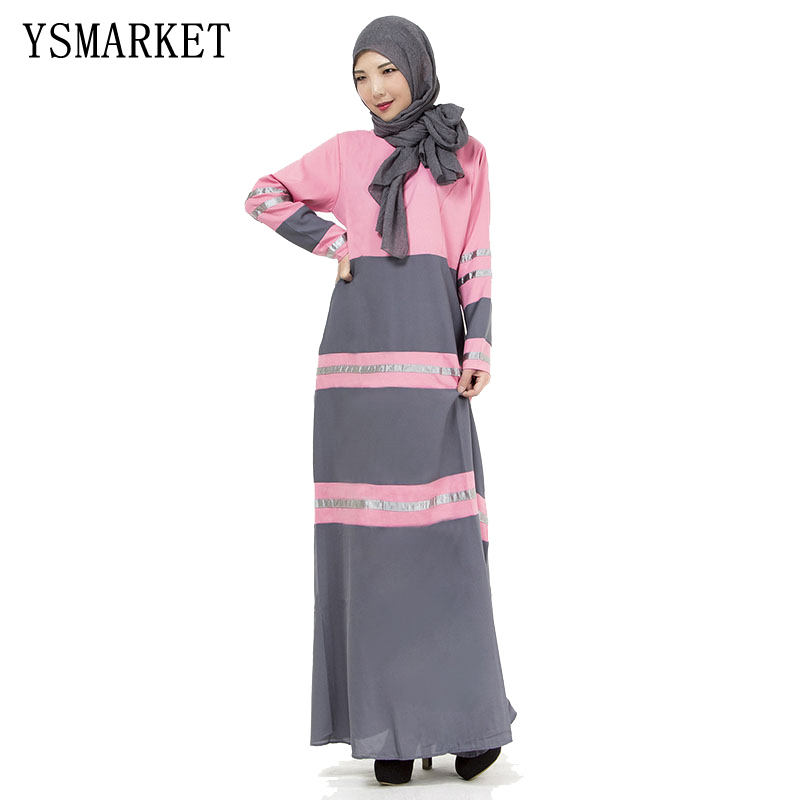 Turkish abaya women stripped printed muslim dress stitching islamic abayas Robe musulmane vestidos longos clothes dubai kaftan