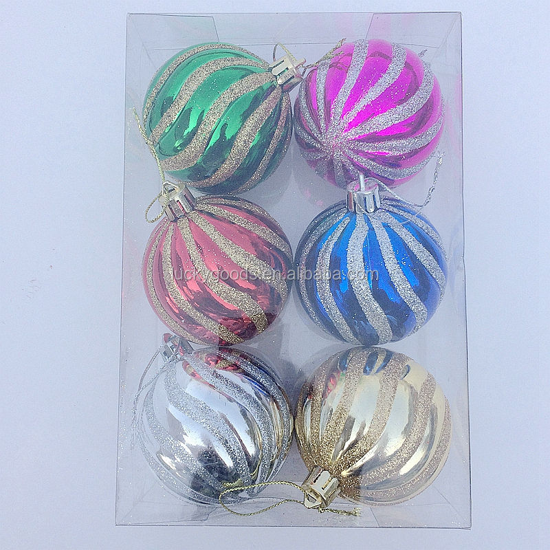 personalized party or festival glitter shiny plastic christmas ball for sale