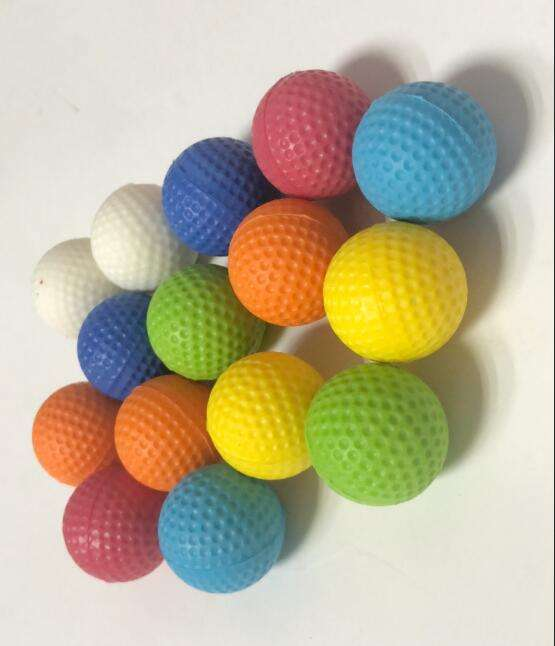 Factory Price pu foam 23mm bullets ball for Nerf toy GUN green yellow red white blue orange color pu foam stress ball