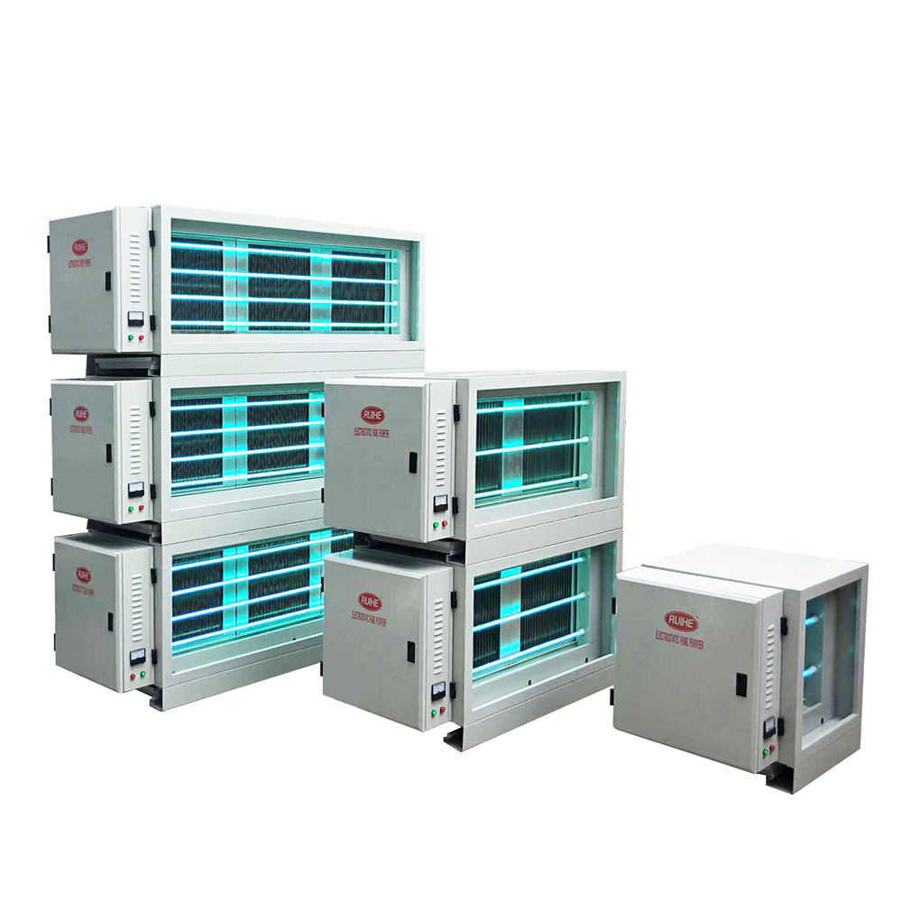 DR AIRE 98% Fume Removal Rate Commercial Kitchen Fume Esp With Uv Photolysis Electrostatic Precipitator