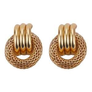 2019 Trendy Gold Plated Earring Women Alloy Loop Circle Ring Lot Metal Earrings