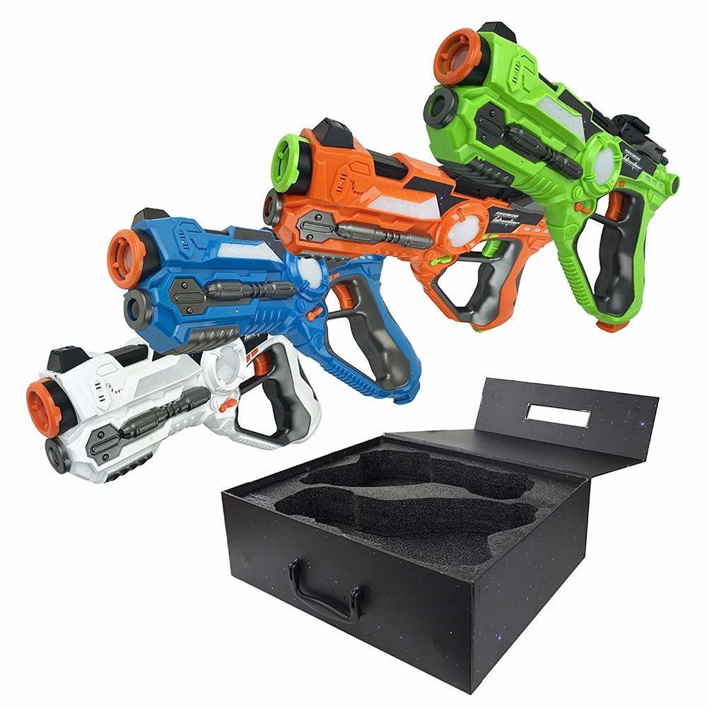 DWI Dowellin Shocking Laser Game Gun Set Laser Tag Gun for Kids Toy