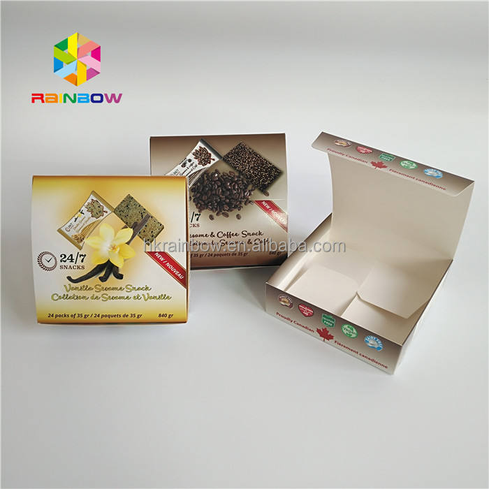 Printing Biscuit Cookie Box Packaging / Food Grade Paper Packaging Box For Sweet Food