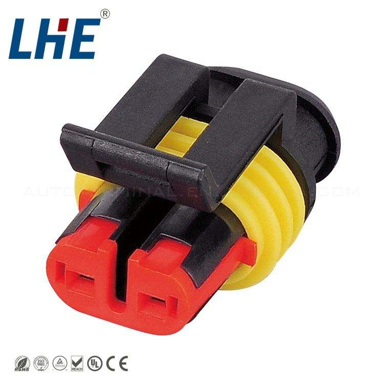 282080-1 AMP SUPER SEAL 1.5MM CONNECTOR HOUSING 2 pin wire connector