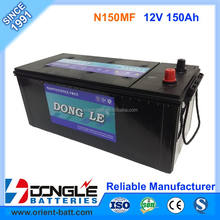 100% Capacity 25 Plate Truck Battery 12V 150Ah Lead Acid Battery