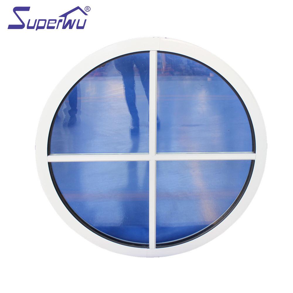 aluminium profile fixed glass round window price, double glazed small/large size fixed windows