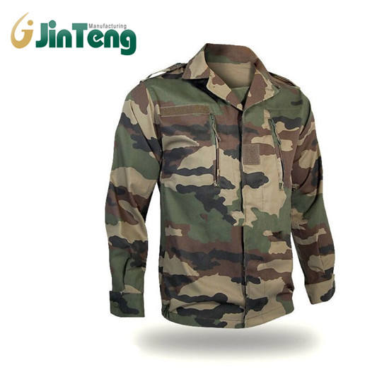 Rip stop Cloth Camouflaged Jacket and Pant French Army F1 F2 Uniform