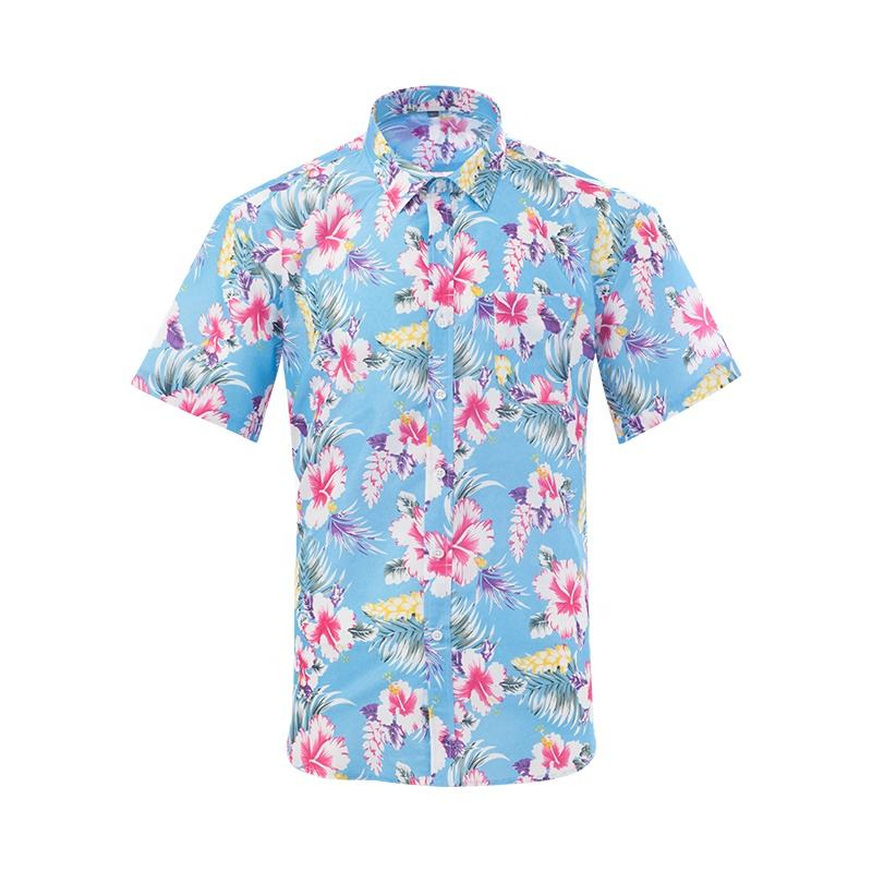 Shirts Flower Men American Style Casual Funky For Rose Stripe Print Mens Shirt
