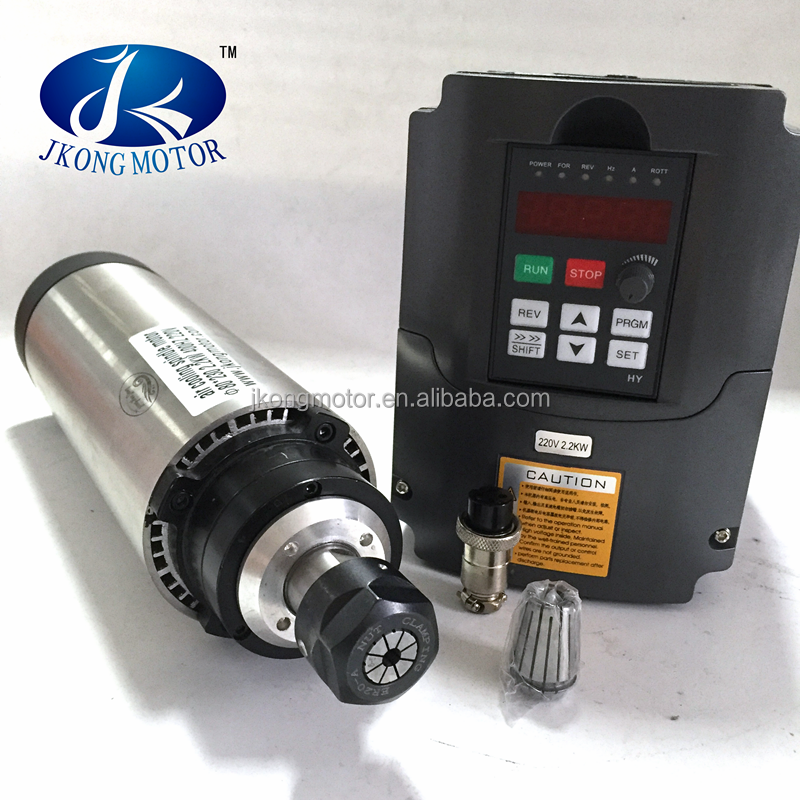 2.2 Kw water / air cooling cnc router spindle motor with high precision