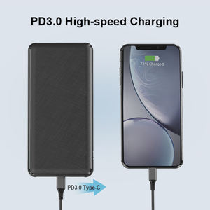Super Capacitor USB C Power Bank Quick Charge 20000 Power Banks 20000mAh