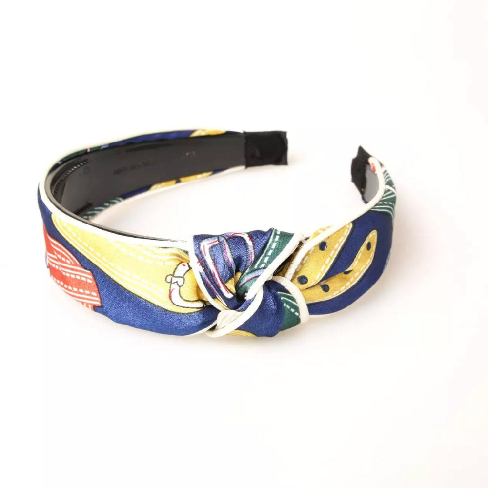 Fashion printed girls headband bows women hair bands silk guangzhou hair accessories
