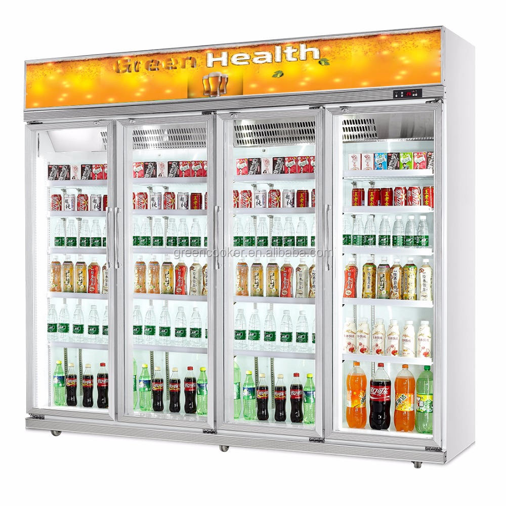 upright convenience store refrigerators/cooler with wheels for beverage/commercial beverage refrigerator