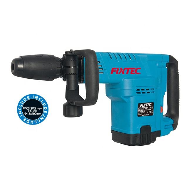 FIXTEC Electric Tools 1500W SDS Max Chuck Demolition Hammer Jack Hammer Drill