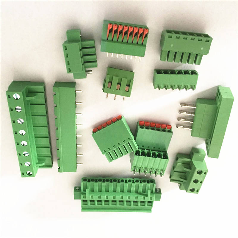 Hot Sale PCB 5.08mm Pitch 3 Pin Screw Pluggable Terminal Block Green Color