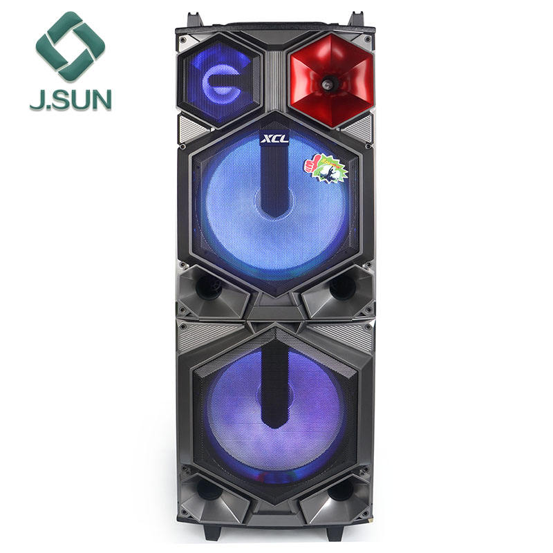 2018 New product 15 inch Portable Trolley Speaker Big Stage Party Speaker System with MIC