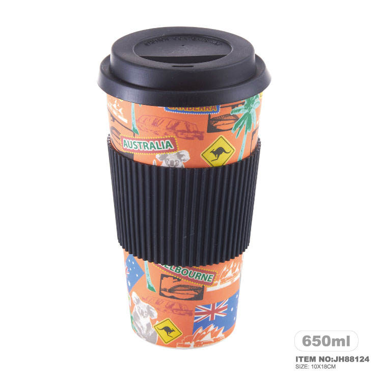 2018 New design Recycle Green Living Bamboo Fiber Cup