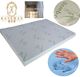 Factory Wholesale cooling gel infused memory foam Bamboo mattress topper in box package
