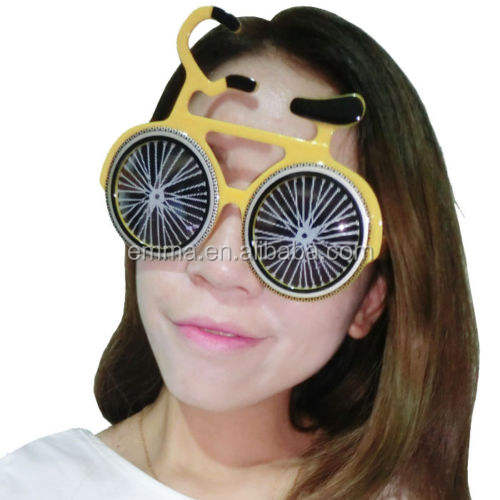 Novelty Bicycle Shaped Sunglasses Funny Party Bike Glasses Mask Costume Kids