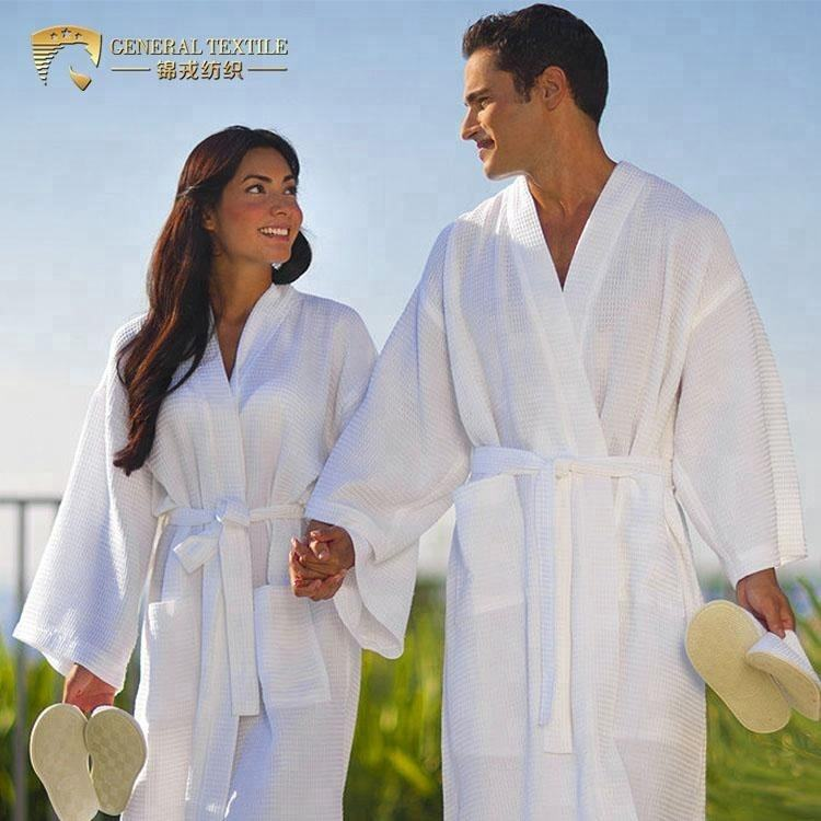 High Quality Cheaper Promotional 100% Cotton Waffle Bath Robe for Hotel