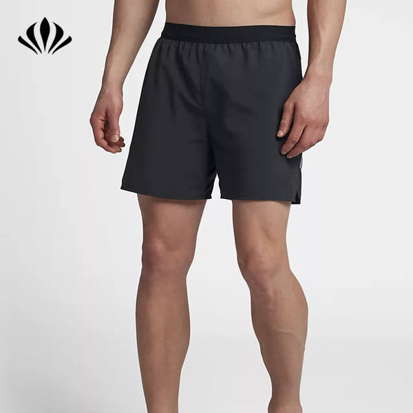 Wholesale built-in briefs shorts flexible updated drawcord waistband shorts for men running