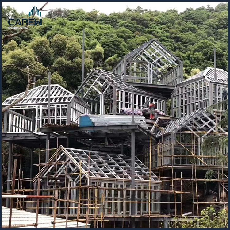 light steel prefabricated tree house conforming to AS/NZS/GB/EN/BS/AISI/SASFA standard