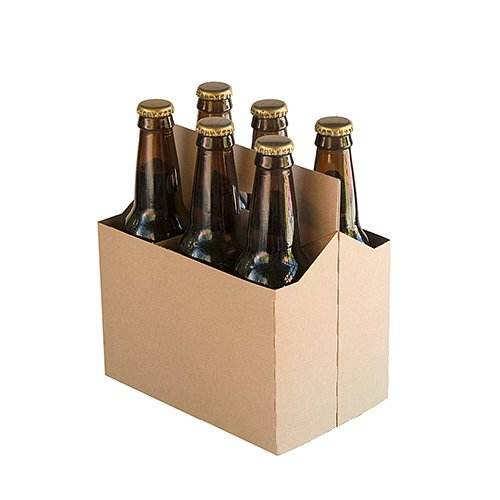High Quality Factory Customize Cardboard Corrugated Six Pack Beer Box wine Boxes with handle