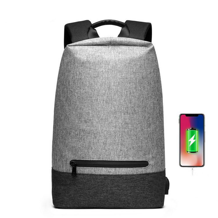 New Men Leisure Students' Multi-functional USB Charging Backpacks Customized Style