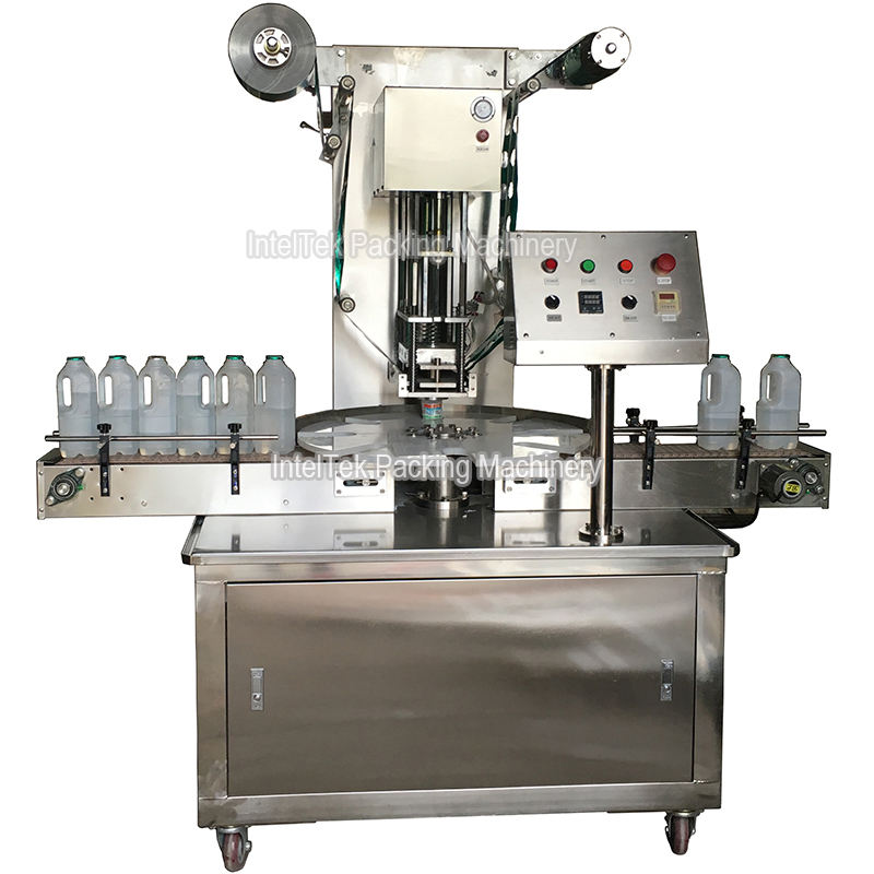 KIS-1800 Rotary Type Juice Milk Bottle Sealing Machine