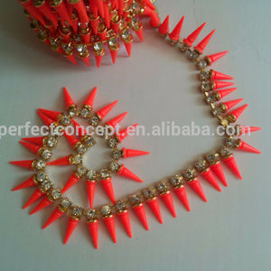 laris neon orange / lonjakan lis / warna neon / jala rantai trim
