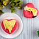 L0074&75 FDA customized engagement theme heart shape pastry/mousse cake silicone molds