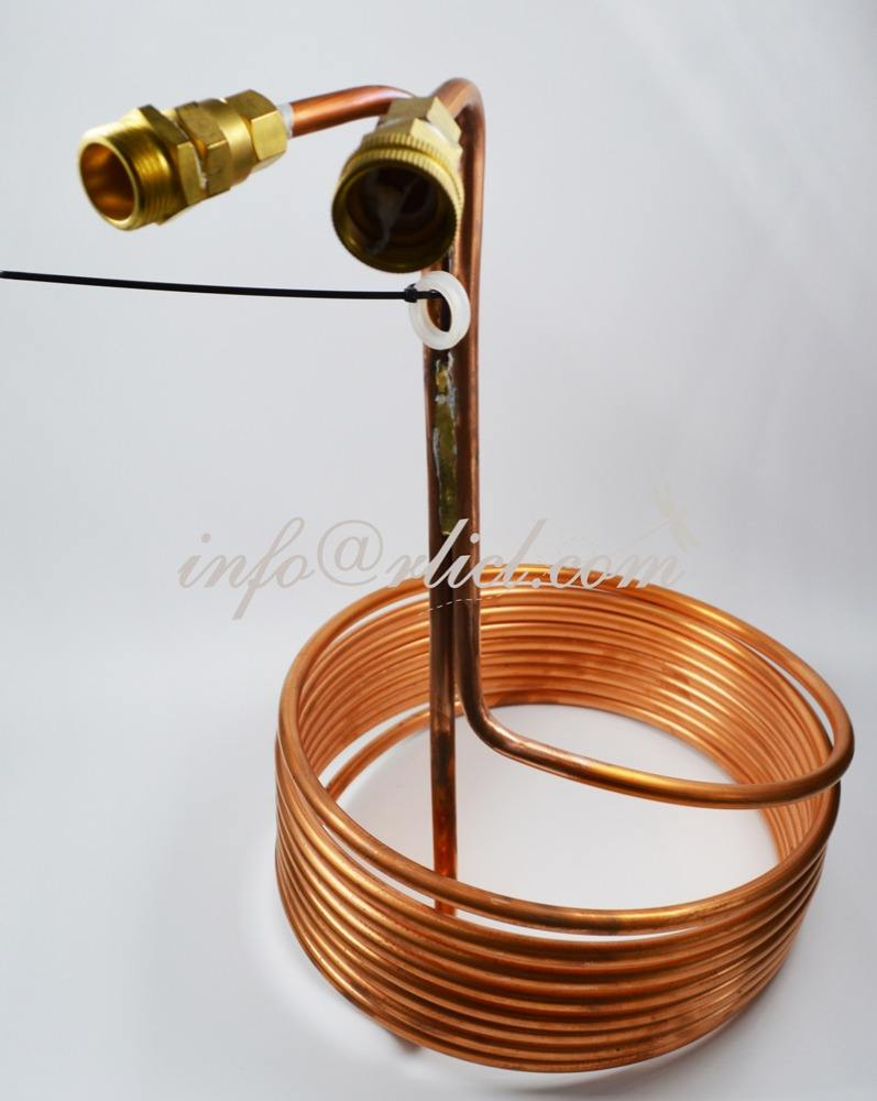 Copper Immersion Wort Chiller with Garden Hose Fitting Beer Brewing Equipment in Home brewing Kettle