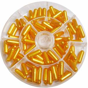Size 0 Pearl Gold color Hard Gelatin Empty Capsules