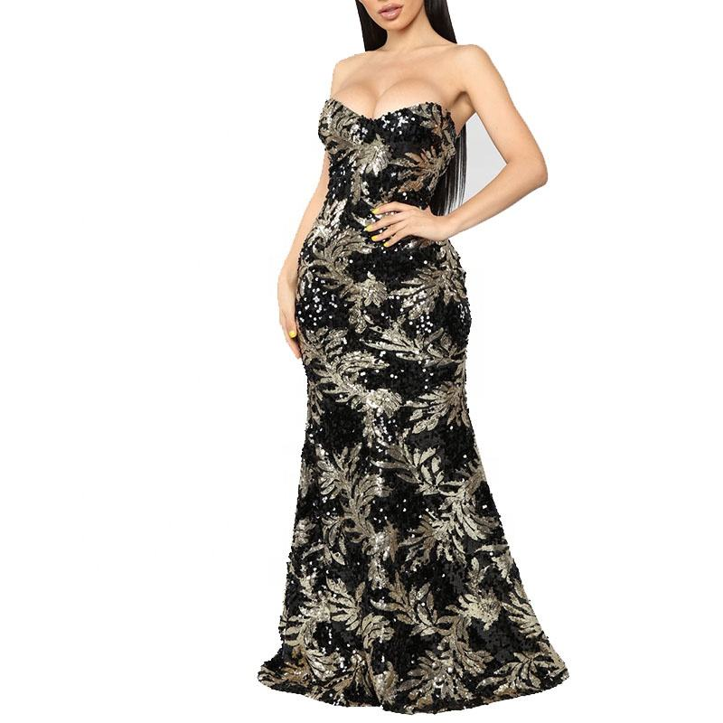 Modieuze Strapless Sweetheart Hals Mermaid <span class=keywords><strong>Prom</strong></span> Avondjurk