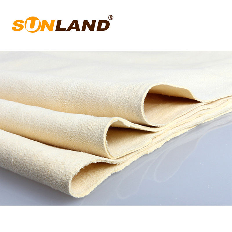 Sunland 100% natural chamois leather towel car clean drying washing cloth