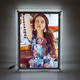 2019 china acrylic display wall mounted single side crystal acrylic led picture frame