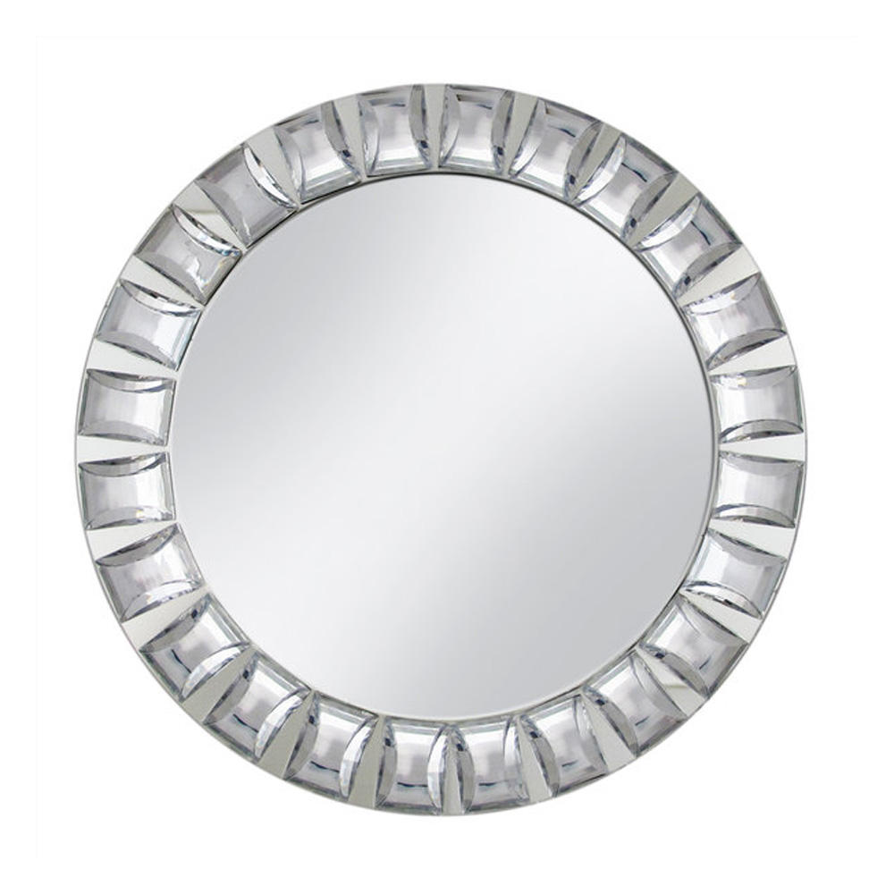 PZ00870 wedding event hot design table decorative big rhinestones mirror charger plate