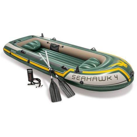 Intex 68351SEAHAWK 4 Persons Kayak Rescue Fishing Inflatable Boat 351cm x 145cm x 48cm