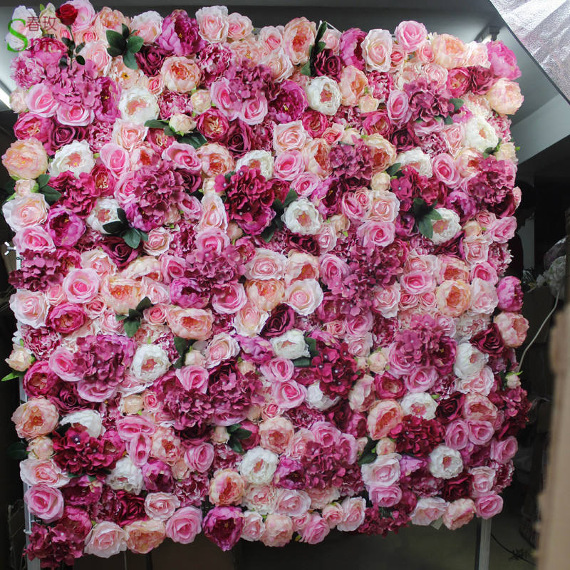 SPR artificial flower silk rose wedding flower wall backdrop arch decorative arrangement floral party event flowers
