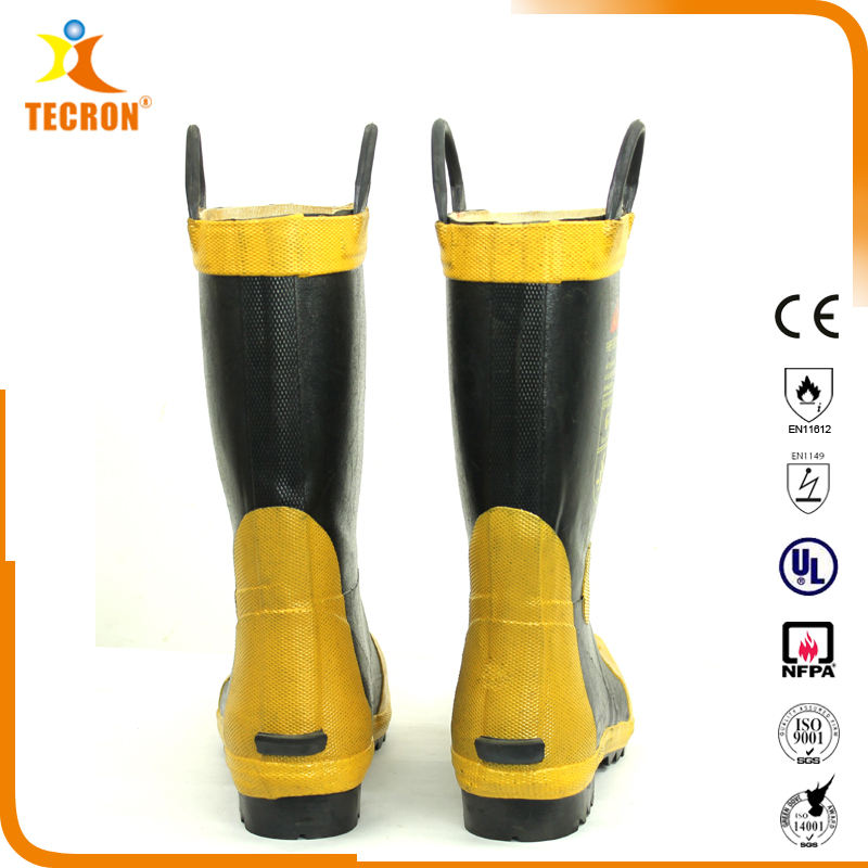 Tecron Safety Standard GA6 Fire Fighter Safety Boots / Fireman Boots / Fire Fighting Boots