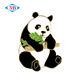 China manufacture custom hard enamel panda gold plated lapel pin