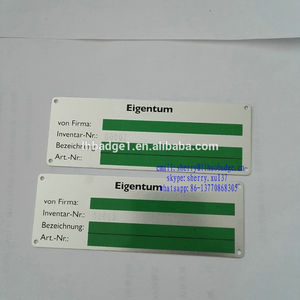 Advanced Printing Metal Aluminum Label with Serial Number