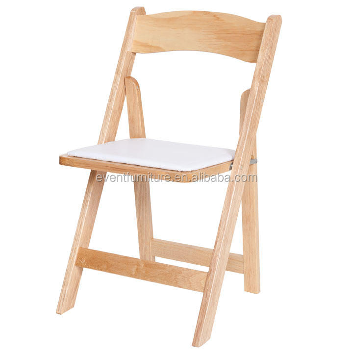newest natural wood folding chair for wedding