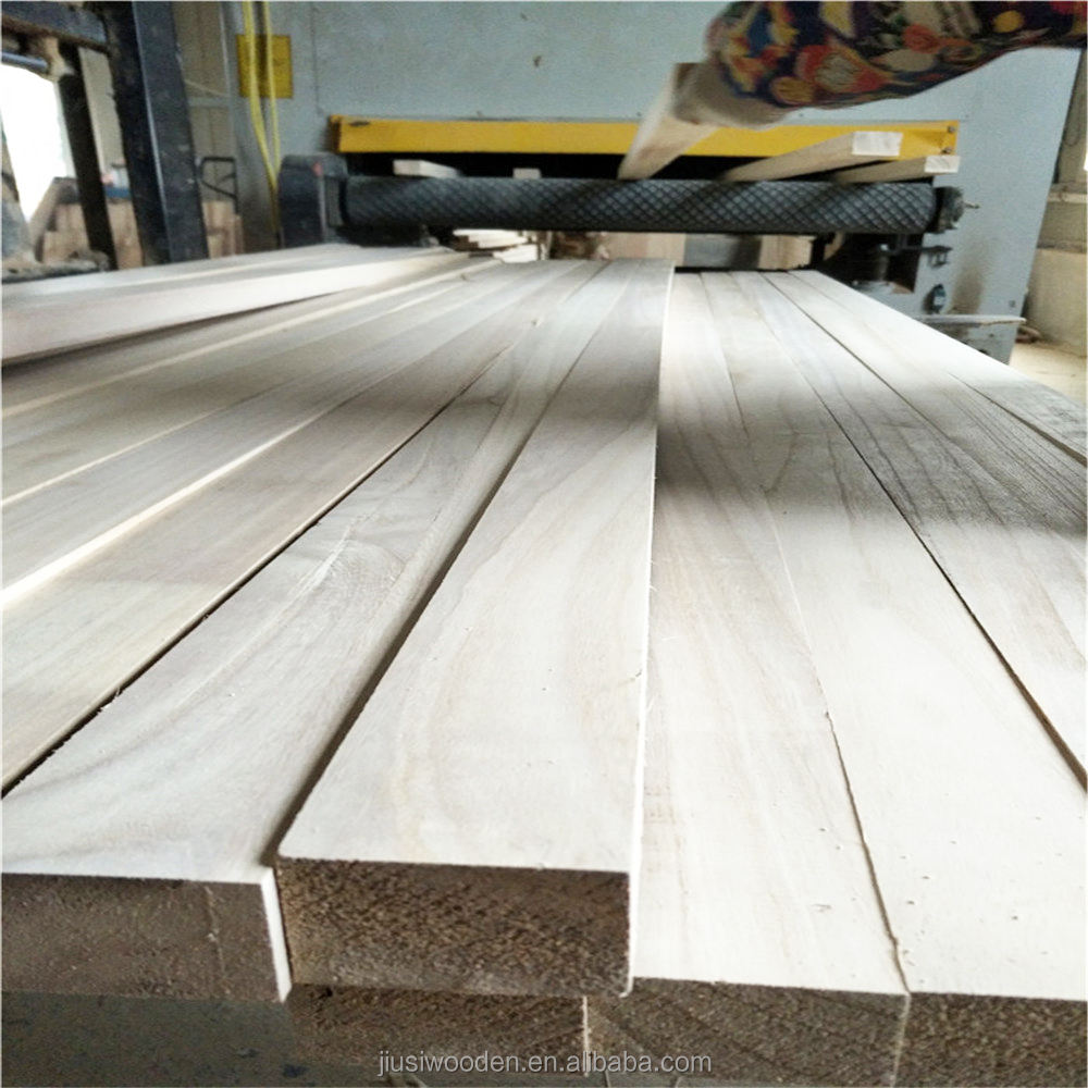 S4S Paulownia Wood Timber for Furniture,Construction and Decoration Usage.
