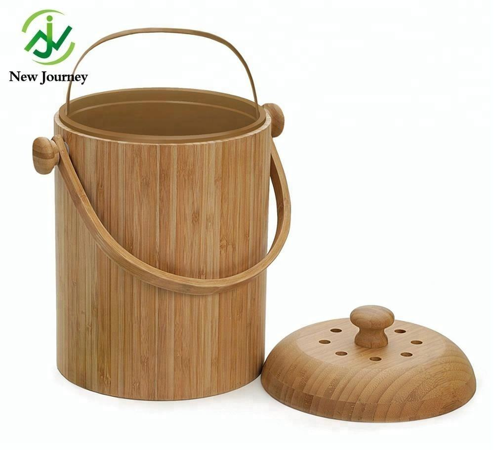 bamboo wood Compost Pail, 3-Quart