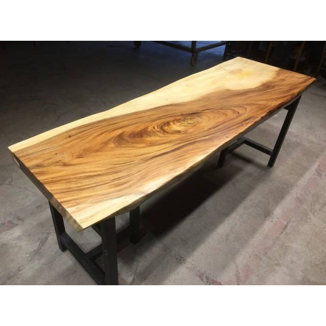 Natural Look Live Edge Dining Solid Wood Table Top