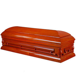 JS-A3075 Red color wooden casket for funeral supplies