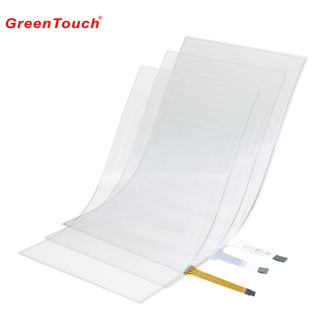 flexible lcd touch screen 4 wire 15 inch resistive touch film touch screen foil